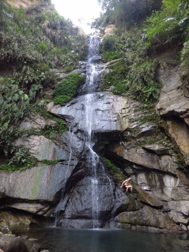 Shengquan Waterfall in dry weather